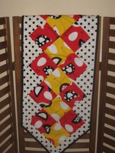 Chicken Chick Rooster Poka Dot  Table Runner by DesignsbyJuliAnn, $44.95