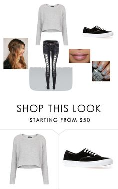 """""""CJ at hogwarts"""" by mixerbum ❤ liked on Polyvore featuring Topshop and Vans"""