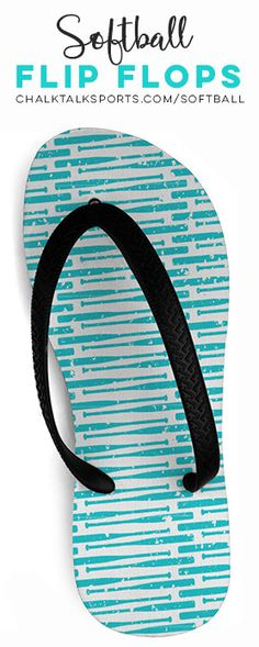 a2e055319 Check out more of our adorable softball flip flops. The perfect summer  accessory for softball