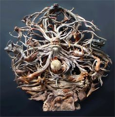 INCREDIBLE DRIFTWOOD ART SCULPTURE - FATHER TIME
