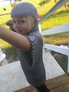 Custom Childrens ages 35 Chainmail Coif and by CelestialChainmail, $85.00 #rennfaire #costume #halloweenartistbazaar