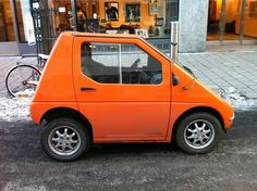 This is just the cutest clementine of a car. Thanks to Grainedit.com's Flickr favorites.