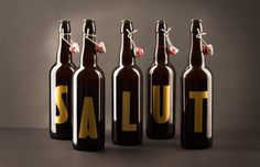 "Salut! Christmas Beer Design by Walabi Studio""Salut is a..."