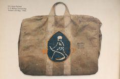 """US Military Canvas Bag """"Aviator's Kit Bag"""" 1940's        -King of Vintage – Heller's Cafe Part 2"""