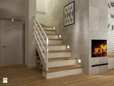dom warszawa 120m2 - Schody, styl nowoczesny - zdjęcie od Grafika i Projekt architektura wnętrz