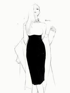 Black & white fashion illustration // Floyd Grey