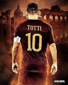 After 25 seasons & 783 games for Roma, Francesco Totti confirms he will retire at the end of this season. Ronaldo Football, Fifa Football, Best Football Players, As Roma, Bambam, Football Silhouette, Paris Saint Germain Fc, Soccer Academy, Academy Logo