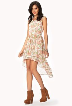 Floral Chiffon High-Low Dress | FOREVER21 - 2047542978