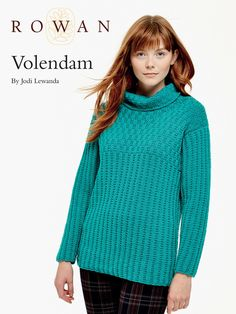 Volendam Sweater in Rowan Pure Wool Worsted. Discover more Patterns by Rowan at LoveKnitting. The world's largest range of knitting supplies - we stock patterns, yarn, needles and books from all of your favorite brands.