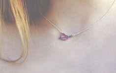 romantic gold heart necklace..so elegant!!
