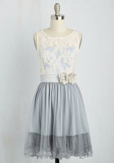 Home Sweet Scone Dress in Earl Grey. Enjoying coffee and scones in this lacy A-line by Ryu is a tradition youre thrilled to uphold! #blue #prom #modcloth