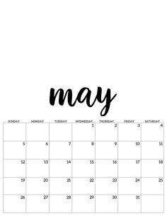 may mai kalender calendar 2019 – School Calendar İdeas.