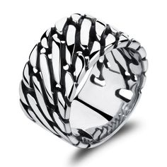 Stainless steel retro domineering personality big thumb male ring GJ466(China (Mainland))