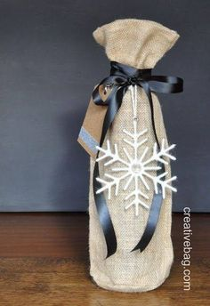 Great gift wrapping for wine...