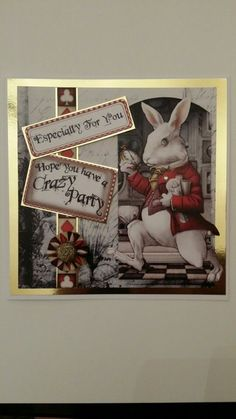 Debbi moore's Journey to wonderland kit (card handmade by sara fielding) Debbie Moore, Fantasy Craft, Pretty Cards, Catwoman, Alice In Wonderland, Cardmaking, Projects To Try, Birthdays, Crafting