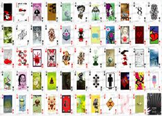 Custom 52 - Cycle I deck artwork. From Custom 52 Playing Cards