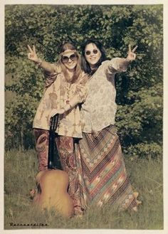 """The counter culture movement of the Hippies fought conventional main stream society. They wore more natural materials, lived together, smoked drank and wrote music to buck the system. Most of the pictures were reproductions of hippie style instead of true. I will also include a picture of """"Hair"""" a Broadway production from the end of the sixties celebrating the Hippie culture."""