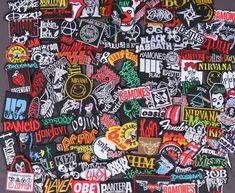 IRON ON PATCH: PUNK ROCK HEAVY METAL MUSIC SEW A DAY TO REMEMBER A.D.T.R