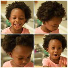 Discussing the hair care regimen of an African American toddler, Age 2!   Our routine consists of washing her hair every 7 - 10 days.  Wash day is prime time to do a twist out. Daily, if the hair is not styled in a twist out, braids, etc. then I'm using a detangler, moisturizer and a sealant (i.e., oil) to style her hair in ~10 - 15 minutes in the morning from detangler application to finished style.  Read more about what's done at night and to check out the list of products used.
