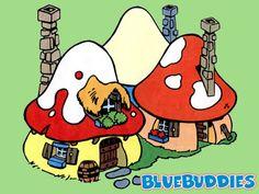 Smurfs_Color_Pictures_Mushroom_Smurf_House.jpg (400×300)