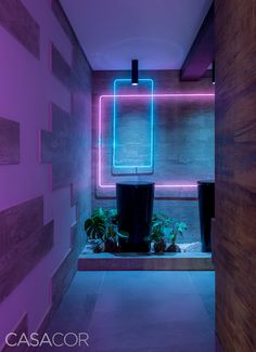 Deco Restaurant, Restaurant Design, Bar Deco, Nightclub Design, Neon Room, Futuristic Interior, Home Room Design, Strip Lighting, Direct Lighting