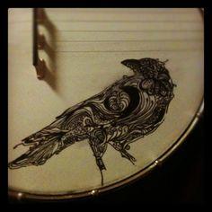 Bird banjo art