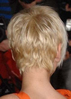 So hard to find a pic of the BACK of a short haircut! Next time I chop off my hair, I will bring this with me to the salon. Well my hair is long now....but we know I'll cut it again!