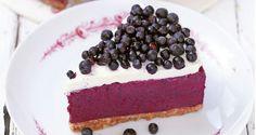 Jogurtowe ciasto z jagodami bez pieczenia
