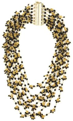 Rosantica multi strand beaded necklace