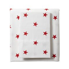Red Star Sheets for our Designer Bedding | Serena & Lily
