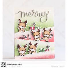 These reindeer are oh so Merry! #mamaelephant #stamphighlights with #reindeergames Card by @melaniadeasy #merryscript #clearstamps #papercrafts