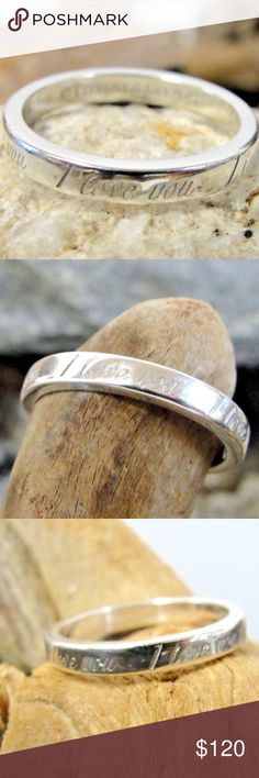 """Tiffany & Co. Sterling Silver """"I Love You"""" Ring Tiffany & Co. Sterling Silver """"I Love You"""" Ring ~ U.S. Size 5.5  Tiffany & Co. """"I Love You"""" ring Size 5.5 - 2.7mm band width 2.4g Tiffany & Co. Jewelry Rings"""