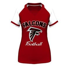 Majestic Atlanta Falcons Women s Red Go For Two IV V-Neck T-Shirt 620b18a24