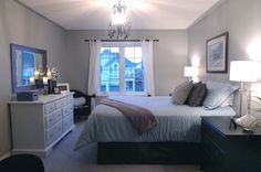 Spare bedroom idea. Nice and simple