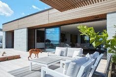 Waterfront living is all about indoor/outdoor flow.