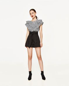 ZARA - WOMAN - POPLIN BERMUDA SHORTS WITH BOW