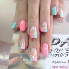 Cute Nail Art, Cute Nails, Pretty Nails, My Nails, Nail Pictures, Nail Photos, Nail Designs Spring, Nail Art Designs, Spring Nails