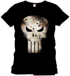 Koszulka Punisher - ślady kul