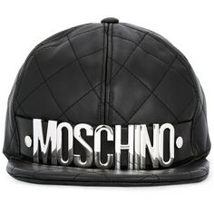 Moschino Moschino Men's Black Leather Hat | Bluefly.Com (495 CAD) ❤ liked on Polyvore featuring men's fashion, men's accessories, men's hats, black, mens leather accessories, mens leather hats and mens hats