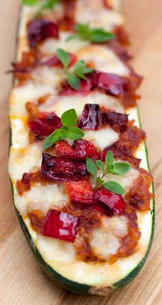 baked zucchini with mozzarella recipe - gebackene Zucchini