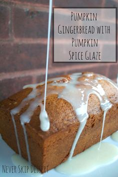 Pumpkin Gingerbread with Pumpkin Spice - the PERFECT fall treat!