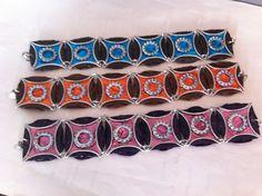 Bracelets multicolores en capsules Nespresso recyclées : Bracelet par recyclart