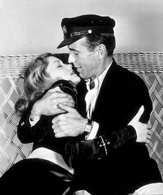 "Lauren Bacall with Humphrey Bogart in ""To Have and Have Not"" 1944. Description from pinterest.com. I searched for this on bing.com/images"