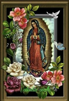 Floral Wreath, Wreaths, Frame, Home Decor, Virgin Mary, Dios, Picture Frame, Floral Crown, Decoration Home