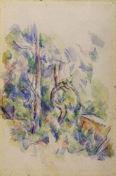 Paul Cézanne - Twisted tree and cistern in the park of the Château Noir