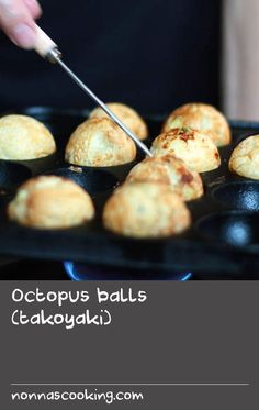 Octopus balls (takoyaki) | This recipe for little octopus-filled balls hails from Osaka, but these are a crowd favourite all over Japan. While commonly spotted as a street food eaten on the run, many Japanese families make takoyaki at home; varying the fillings and toppings can be great fun for the whole family. Cake Recipes At Home, Delicious Cake Recipes, Yummy Cakes, Dessert Recipes, Yummy Food, Oven Recipes, Fall Recipes, Crockpot Recipes, Great Recipes