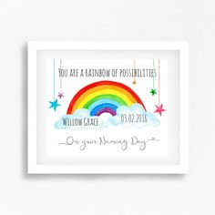 Naming Ceremony Gift Naming Day Gift Gift by PerfectLittlePrints