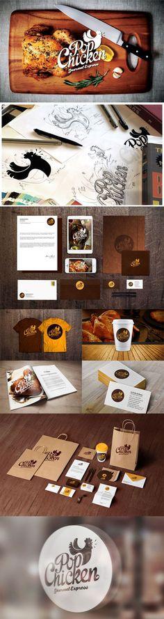 """Pop Chicken"" - 55 Brand Identity Design Examples for Restaurant | iBrandStudio"
