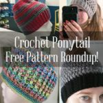 If you're looking for a free crochet ponytail hat pattern, you're in luck! Here's a list of the most popular free crochet beanie ponytail hat patterns. Crochet Adult Hat, Crochet Beanie, Free Crochet, Knit Crochet, Crochet Towel, Crochet Teddy, Chunky Crochet, Crochet Crafts, Crochet Projects