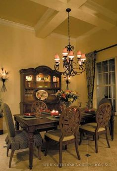 "Dining Room from Sater Design's ""Mapleton"" house plan from our Farmhouse plan collection..."